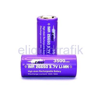 Efest IMR 26650 LiMn 3500mAh Battery - Flat Top - 64Amp