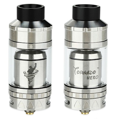 iJoy Tornado Hero RTA & Sub Ohm Tank - 5.2ml 25mm Silver